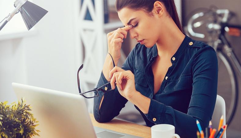 Stressed job seeker